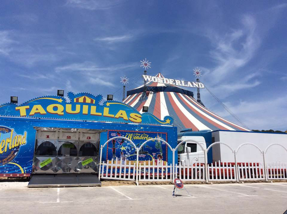 Circus in Javea Costa Blanca Spain